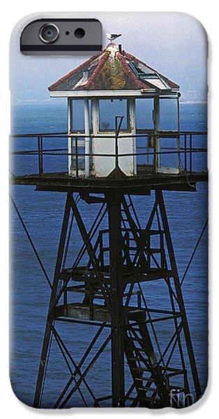Alcatraz iPhone Cases - Alcatraz Watch Tower iPhone Case by Paul W Faust -  Impressions of Light