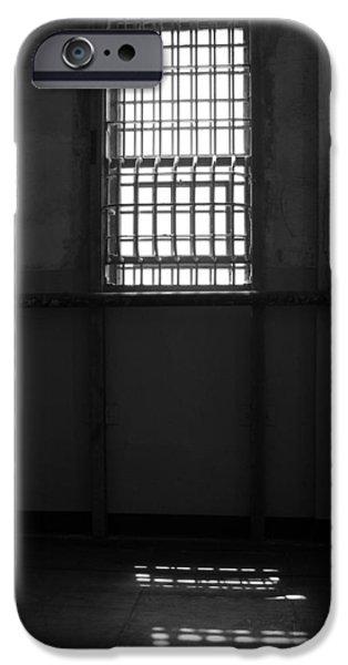 Alcatraz iPhone Cases - Alcatraz Window two iPhone Case by Ty Helbach
