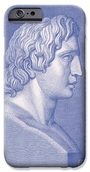 King Of The Persians iPhone Cases - Alexander The Great, Greek King iPhone Case by Photo Researchers