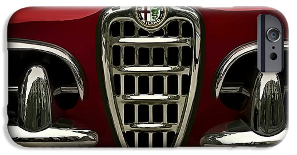 Classic Digital Art iPhone Cases - Alfa Red iPhone Case by Douglas Pittman