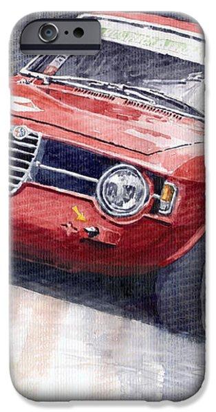 Alfa Romeo Giulie Sprint GT 1966 iPhone Case by Yuriy  Shevchuk