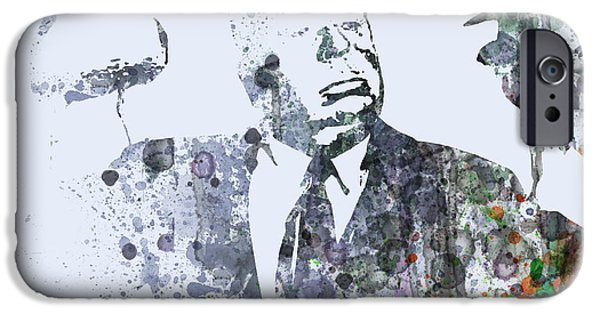 Film iPhone Cases - Alfred Hitchcock Birds iPhone Case by Naxart Studio