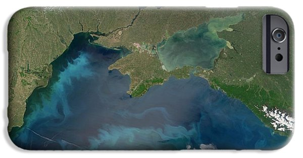 Algal Photographs iPhone Cases - Algal Blooms In The Black Sea iPhone Case by NASA / Science Source