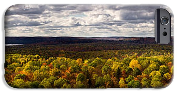 Algonquin iPhone Cases - Algonquin Park Panorama iPhone Case by Cale Best
