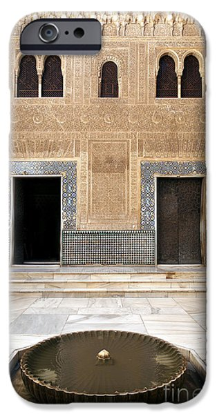 Alhambra inner courtyard iPhone Case by Jane Rix