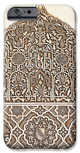 Alhambra relief iPhone Case by Jane Rix