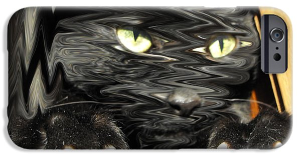 Alice In Wonderland Photographs iPhone Cases - Alices cat iPhone Case by Rebecca Margraf