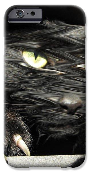 Alice's cat iPhone Case by Rebecca Margraf