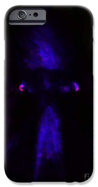 Aliens - First Contact - Blue iPhone Case by Wingsdomain Art and Photography