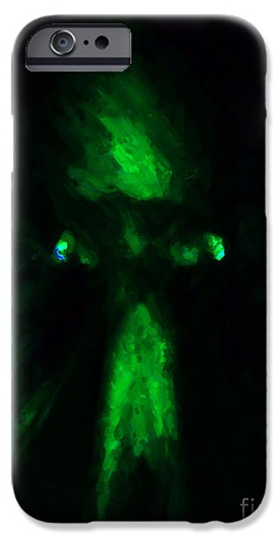 Aliens - First Contact - Green iPhone Case by Wingsdomain Art and Photography