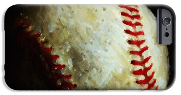 Boston Red Sox iPhone Cases - All American Pastime - Baseball - Painterly iPhone Case by Wingsdomain Art and Photography