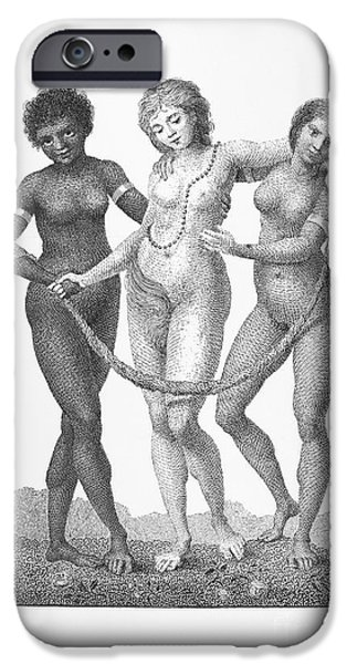 1796 iPhone Cases - Allegory: Slave Trade, 1796 iPhone Case by Granger