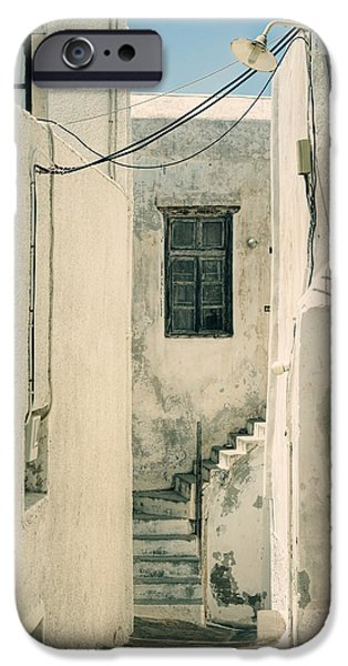 White House iPhone Cases - alley in Greece iPhone Case by Joana Kruse