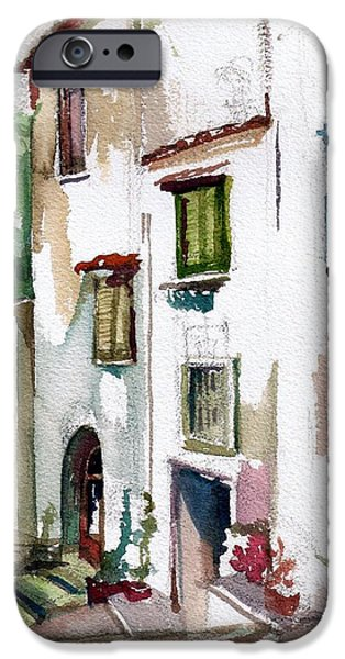 Alley Pastels iPhone Cases - Alley in Matza Lobrenze iPhone Case by Linette Childs