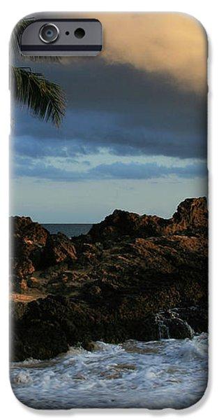Aloha Naau Sunset Paako Beach Honuaula Makena Maui Hawaii iPhone Case by Sharon Mau