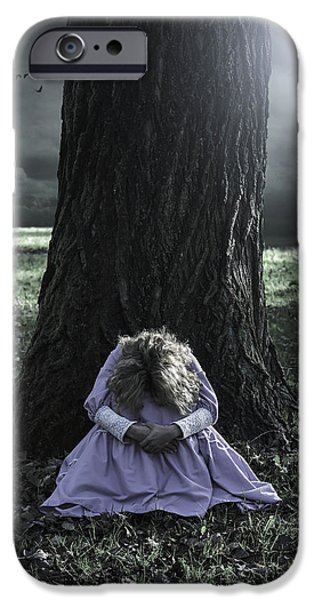 Eerie iPhone Cases - Alone At Night iPhone Case by Joana Kruse