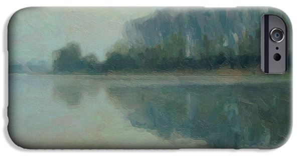 Limburg iPhone Cases - Along the Maas in Southern Limburg iPhone Case by Nop Briex