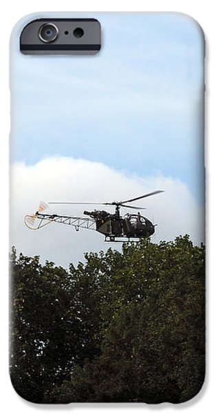 Alouette Ii Of The Belgian Army iPhone Case by Luc De Jaeger
