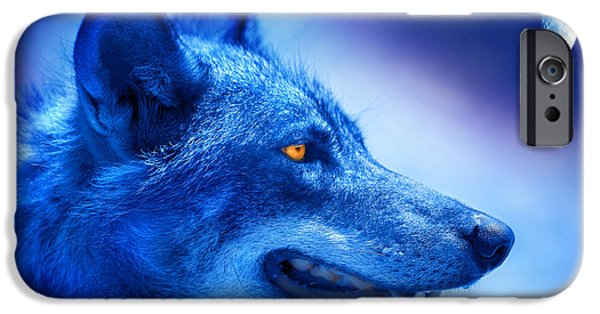 Animal Photographs iPhone Cases - Alpha Wolf iPhone Case by Mal Bray