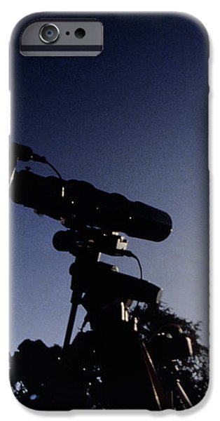 Amateur Astronomer Observing A Solar Eclipse iPhone Case by Dr Fred Espenak
