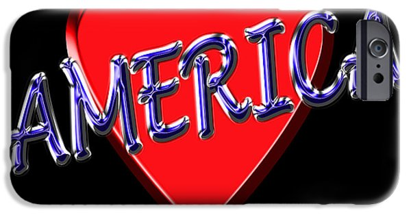 I Love America iPhone Cases - America iPhone Case by Andrew Fare
