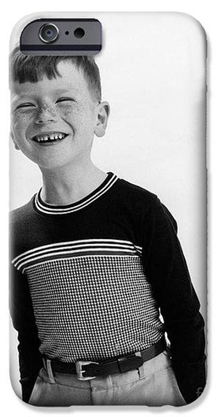 Nineteen iPhone Cases - American Boy iPhone Case by Hans Namuth and Photo Researchers