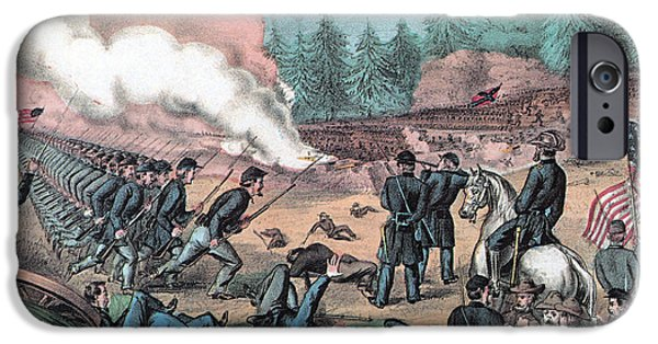 Bloody Battle iPhone Cases - American Civil War, Battle Of Cold iPhone Case by Photo Researchers