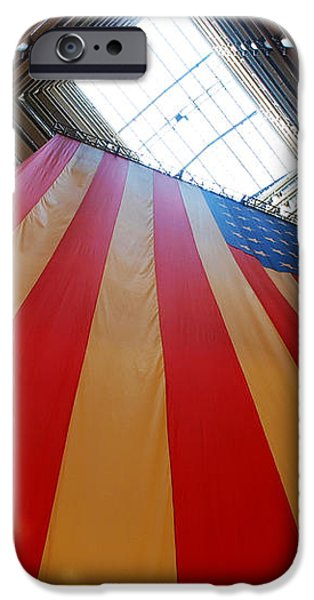 American Flag in Marshall Field's iPhone Case by Paul Ge