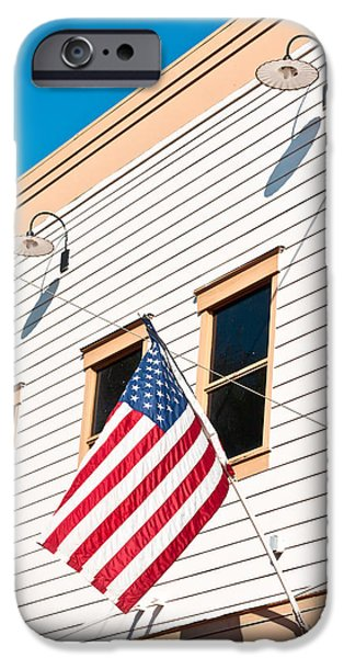 July iPhone Cases - American flag iPhone Case by Tom Gowanlock