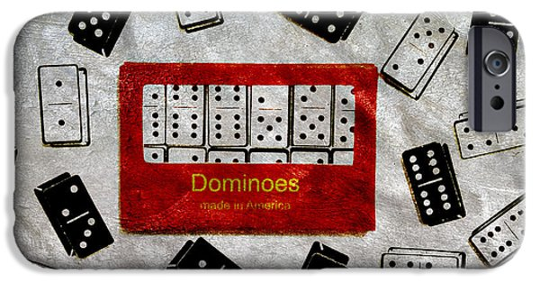 Pleasure iPhone Cases - American Passtime Dominoes iPhone Case by Angelina Vick