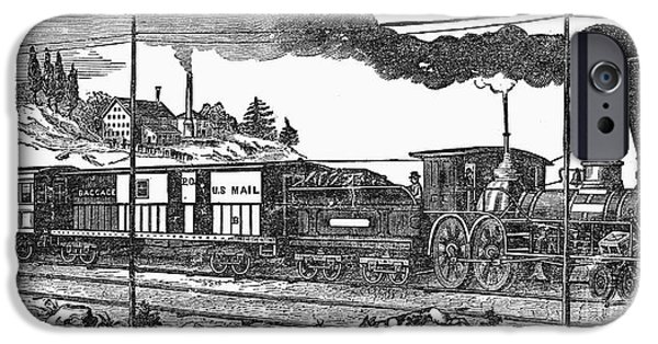 1850s iPhone Cases - AMERICAN TRAIN, 1850s iPhone Case by Granger