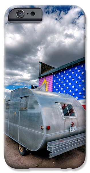 Trailers iPhone Cases - Americana iPhone Case by Peter Tellone
