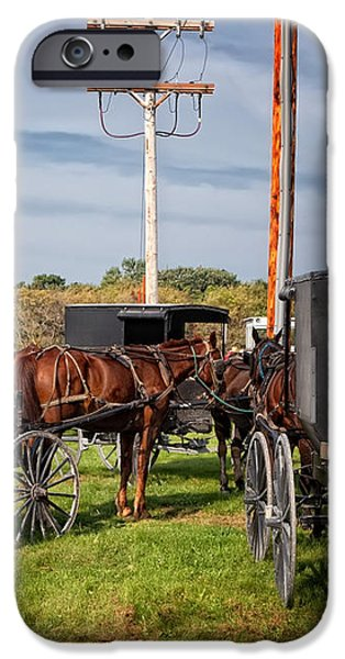 Amish at the auction iPhone Case by Al  Mueller