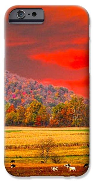 amish farm sundown iPhone Case by Randall Branham