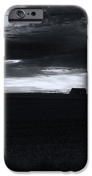 Amish Sunrise Black and White iPhone Case by Joshua House