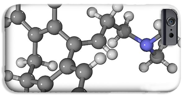 Antidepressant iPhone Cases - Amitriptyline Antidepressant Molecule iPhone Case by Laguna Design