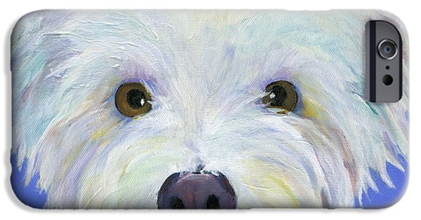 Dog And Toy iPhone Cases - Amos iPhone Case by Pat Saunders-White