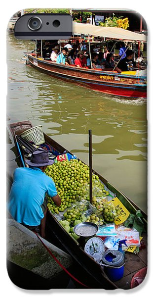 Bangkok iPhone Cases - Ampawa Floating Market iPhone Case by Adrian Evans