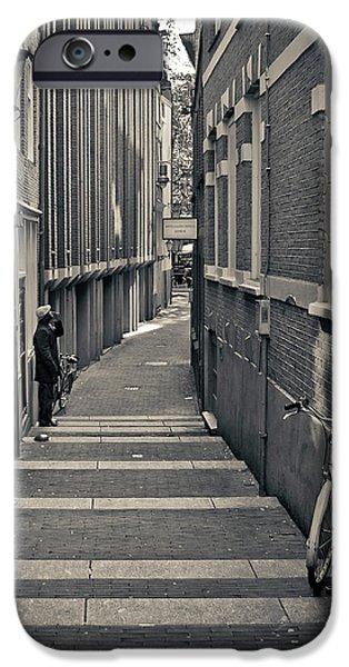 Blackandwhite Photographs iPhone Cases - Amsterdam iPhone Case by Adam Romanowicz