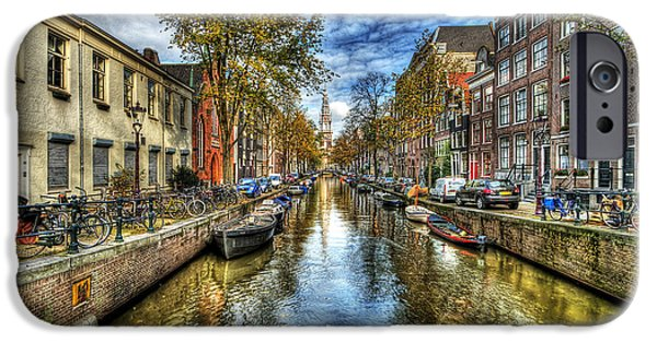Roofs iPhone Cases - Amsterdam iPhone Case by Svetlana Sewell