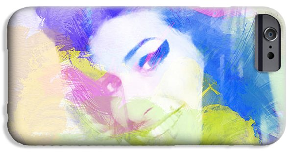Pastel iPhone Cases - Amy Winehouse iPhone Case by Naxart Studio