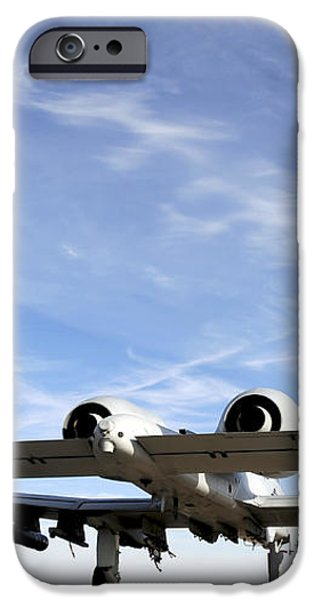 An A-10 Thunderbolt Ii Taxies iPhone Case by Stocktrek Images