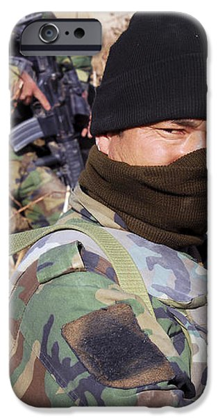 An Afghan Commando On Patrol iPhone Case by Stocktrek Images