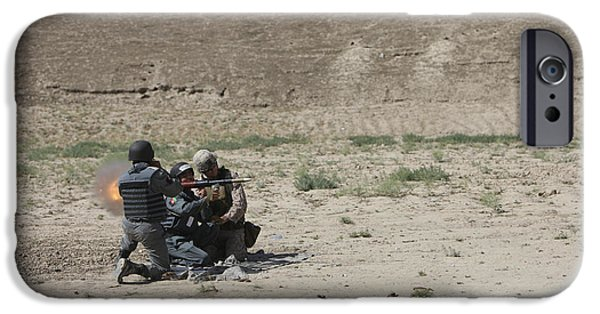 Rpg iPhone Cases - An Afghan Police Studen Fires iPhone Case by Terry Moore