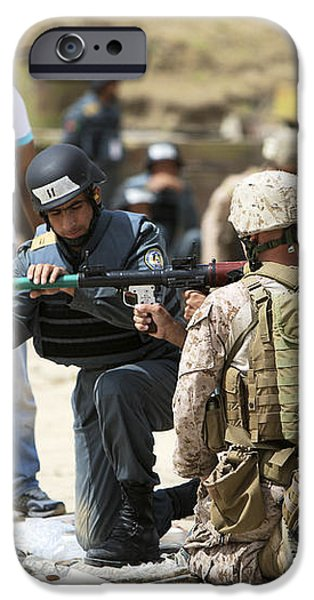 An Afghan Police Student Loads A Rpg-7 iPhone Case by Terry Moore