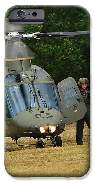 An Agusta A109 Helicopter iPhone Case by Luc De Jaeger
