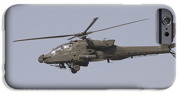 Baghdad iPhone Cases - An Ah-64 Apache In Flight iPhone Case by Terry Moore