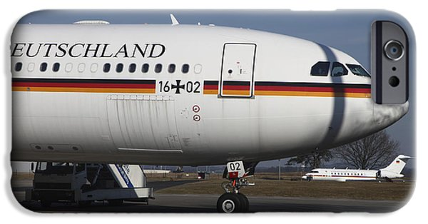 Air Force One iPhone Cases - An Airbus 340 Acting As Air Force One iPhone Case by Timm Ziegenthaler
