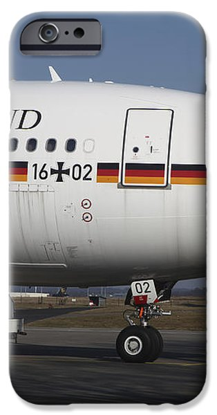 An Airbus 340 Acting As Air Force One iPhone Case by Timm Ziegenthaler