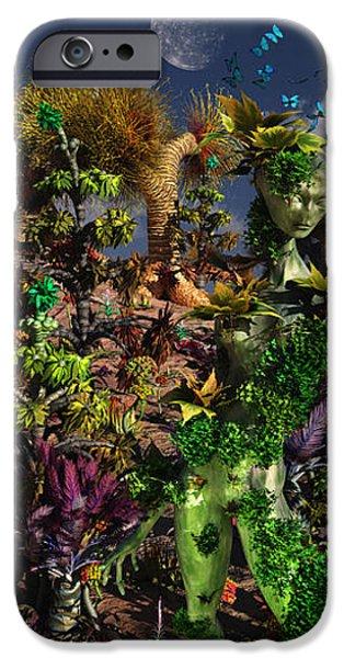 An Alien Being Blending iPhone Case by Mark Stevenson